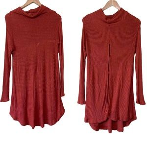 Free people long sleeve ribbed tunic sweater small